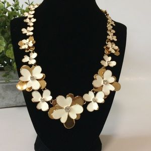 NWT Kate Spade Pansy Blossoms Collar Necklace